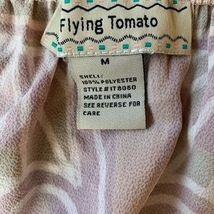 Flying Tomato Tops - Flying Tomato Womens Multi-Color Off The Shoulder